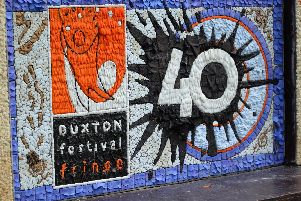 The well dressing which honoured 40 years of the Fringe. Photo: Dave Upcott.