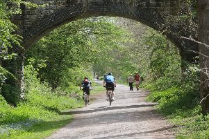 The popular Monsal Trail walking and cycling route now runs along the former Midland Railway line between Blackwell Mill and Bakewell.