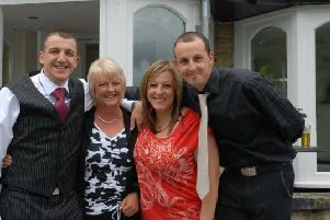 Dean Morgan with sister Michaela, his mum Jean and brother Gary.