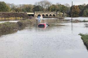 Floods across Derbyshire caused serious damage.