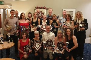 Some of the winners at the annual presentation night of Buxton Athletic Club.