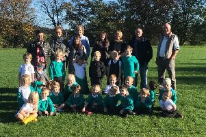 Pupils at Furness Vale Primary School welcome the fundraising towards new facilities at the village's community field.
