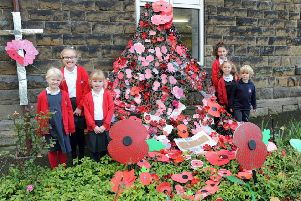Chinley Primary School pupils produced their take on the Weeping Window.