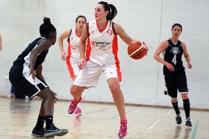 Hatters player Helen Naylor in action.