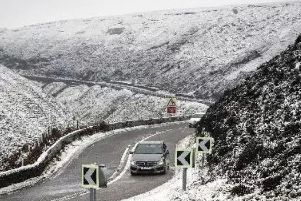 Road closures have been put in place due to snow and wind.