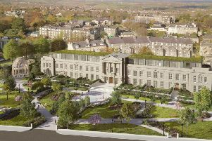 Grand vision - How Harrogate developer Adam Thorpe's Crescent Gardens project may end up, including the redevelopment of the former Harrogate council offices and the gardens in front of it.