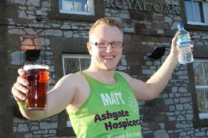 Matt Otty preparing to run the London Marathon for Ashgate Hospice