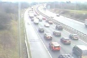 The M6 southbound entry slip at Charnock Richard Services has been closed after a vehicle broke down and blocked the lanes this morning.
