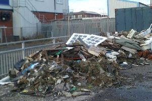 Some of the rubbish dumped after the fly-tipping incident at Jubilee Quay, Fleetwood.