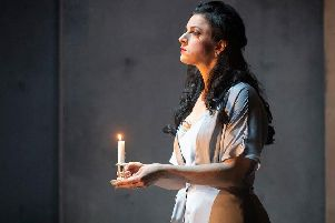 Madeleine Pierard as Lady Macbeth.
