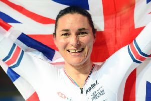 Sarah Storey celebrates her latest success in the Netherlands. (PHOTO BY: Simon Wilkinson/SWpix.com)