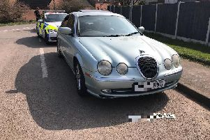 The mystery vehicle. Pic: Derbyshire RPU.