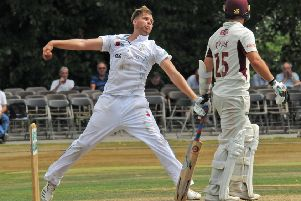 Matt Critchley, who took three key wickets in Derbyshire's victory.