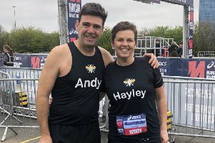 Mayor Andy Burnham and Hayley Lever