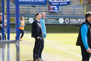 FC Halifax Town v Bromley at The MBI Shay Stadium, Halifax. Jamie Fullarton for Halifax.