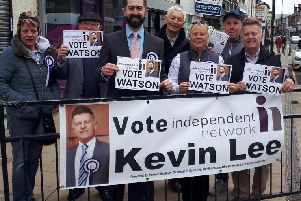Independent Network candidates and supporters on the campaign trail