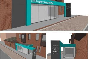 The plans to rebuild the entrance to make it clearer to visitors where the department is