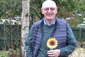 Mike Harrison, from Chapel-en-le-Frith, has planted a sunflower in memory of his beloved wife.