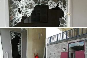 Pictured is some of the damage caused at Buxton Rugby Club after a recent burglary.