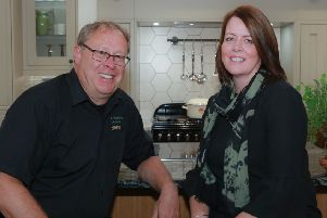 Home interiors company Buxton Woodworks has been shortlisted for a  national H�fele Studio Partner award. Pictured are directors Steve and Jenny Bradbury.