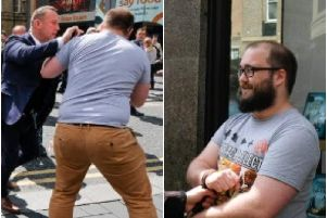 Paul Crowther was arrested after throwing a milkshake over Nigel Farage in Newcastle.
