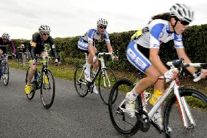 A road race at the festival in 2013. PIC: Richard Ponter