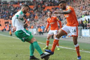 Ryan Edwards in action last season against Blackpool, who had tried to sign him two years ago