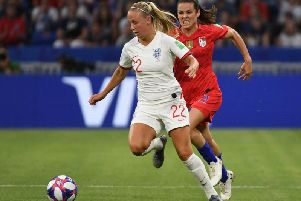 Beth Mead goes on the attack in England's World Cup semi-final defeat against the USA. Picture: Getty Images