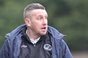 Buxton FC v Hednesford, joint manager Paul Phillips