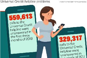 Among several problems sometimes associated with Universal Credit is the Government's helpline for struggling claimants.