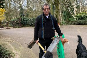 """""""Nidd Gorge needs permanent protection"""" - Coun Paul Haslam (Conservative, Old Bilton) who is pictured helping to tidy up the gorge."""