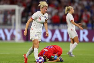 Millie Bright was sent off in England's semi-final defeat to winners USA.