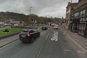 Planned improvements in West Vale as part of the A629 phase 4 scheme (Google Street View)