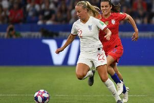 Beth Mead in action for England during their World Cup loss to the eventual champions USA