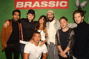 The cast of Brassic, with Michelle Keegan and Joe Gilgun pictured centre (PHOTOS: Dave Benett/Getty Images for Sky)