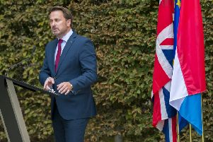Luxembourg premeir Xavier Bettel held a press conference on Monday - without Boris Johnson.