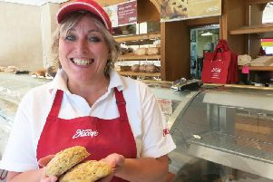 Sara Littlewood from Stacey's Bakery's South Street shop in Ilkeston.