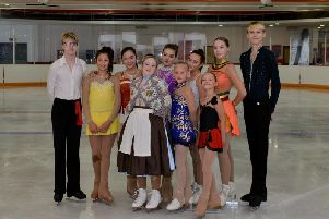 The Sporting Champion Ice Skaters took to the ice for a dazzling display
