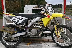 An illegal, off-road bike was seized by officers on the Rainworth Bypass.