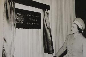 Queen formally opens Myerscough College on October 17, 1969