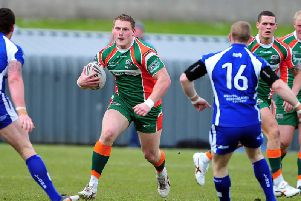 A fresh-faced Luke Menzies in action for Hunslet.