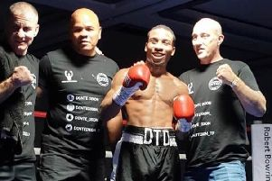 Donte Dixon, and his entourage, after victory and an outstanding display at the Notts Nxtgen show.