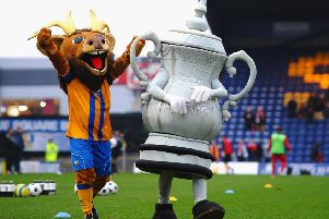MANSFIELD, ENGLAND - JANUARY 06:  Mascots  during the FA Cup with Budweiser Third Round match between Mansfield Town and Liverpool at One Call Stadium on January 6, 2013 in Mansfield, England.  (Photo by Laurence Griffiths/Getty Images)