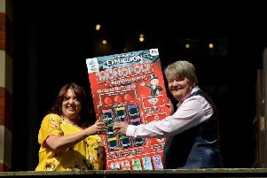 Mansfield couple Andrew and Paula Hancock scooped 1,000,000 on a National Lottery scratchcard.
