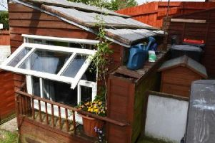 The plastic shed Chris Chapman was forced to live in.