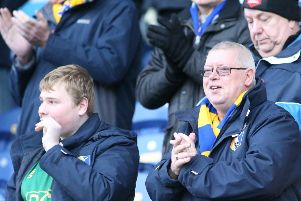 Mansfield Town fans ahead of kick-off.