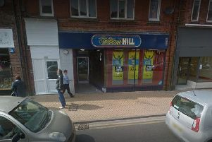 William Hill, on Outram Street, Sutton, was hit.