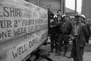 Miners at Shirebrook Colliery.