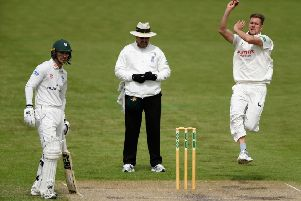 Mansfield-based bowler Jake Ball in County Championship action for Nottinghamshire. (PHOTO BY: Stu Forster/Getty Images)