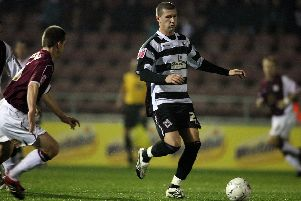 Tommy Wright in action for Darlington  (Photo by Pete Norton/Getty Images)